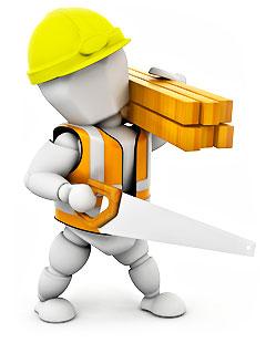 Работа мастера строительной бригады