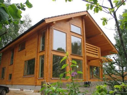 Теплый дом из клееного бруса