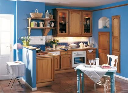 Использование модных элементов кантри в кухнях ЗОВ