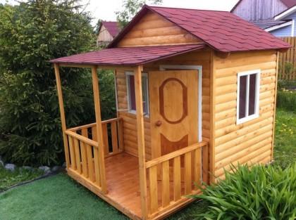 детские деревянные домики для дачи