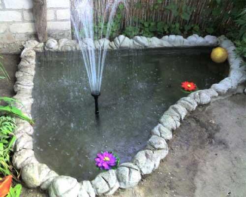 Фото как сделать фонтан своими руками