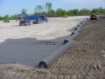 Строительство дорог с использованием геотекстиля