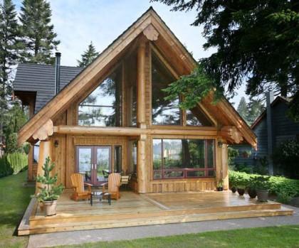 Дизайн рубленого дома