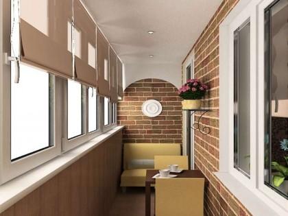 Дизайн интерьера балконов