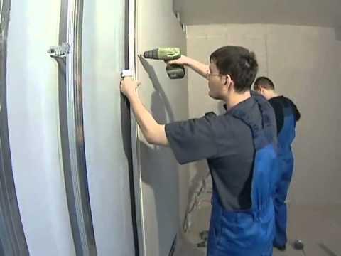 Выравнивание стен гипсокартоном своими руками видео