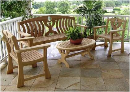 садовая деревянная мебель