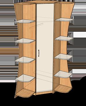 Угловой кухонный шкаф: виды, размеры, чертежи