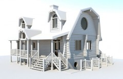3D visualization of the cottages