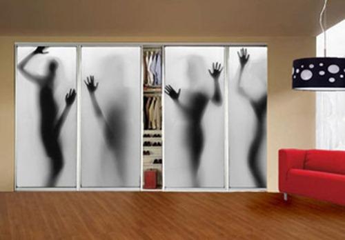 Как декорировать дверь для шкафа купе