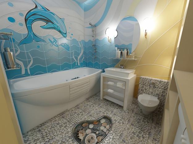 Фото и рисунки дизайна ванной комнаты