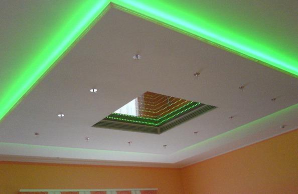 Светодиодная лента на натяжной потолок своими руками