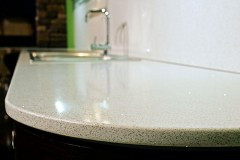 Countertops made of quartz agglomerate
