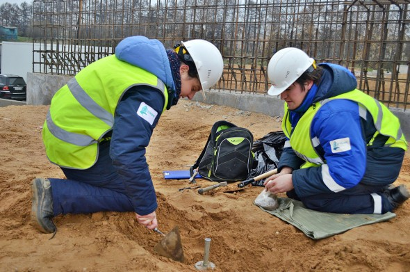 Devices for testing soils