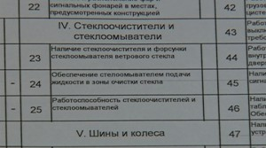 Diagnostic Card with delivery inspection