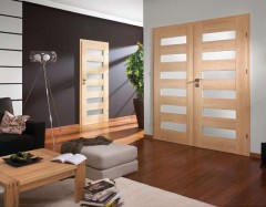 Doors with glass inserts