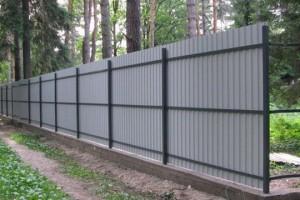 Fences made of corrugated