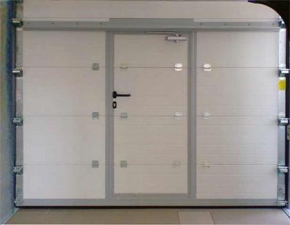 Garage doors with wicket