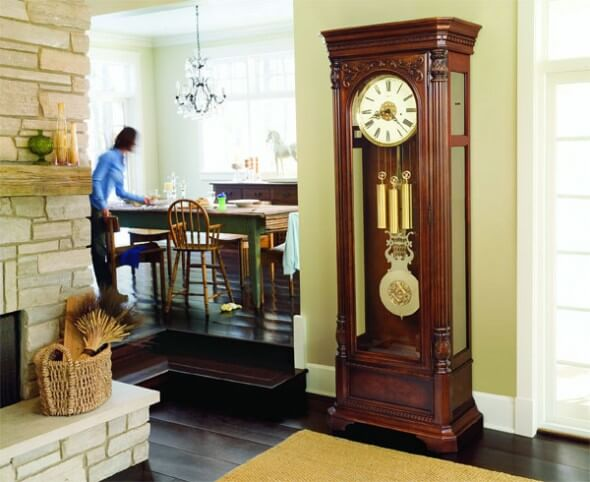 Grandfather clock in the interior