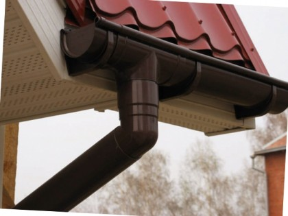 Installation of gutters at a height