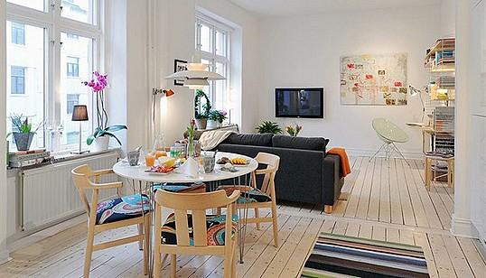 Interior design in a small apartment