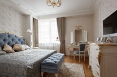 Italian style in the interior of a bedroom
