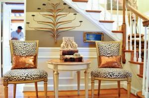 Leopard print interior