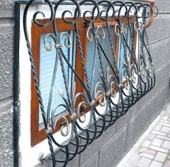 Metal bars on windows