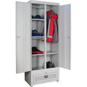 Metal cabinets for clothes