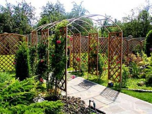 Metal garden pergolas