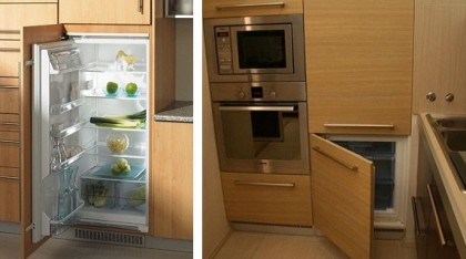 Modern design with built-in appliances