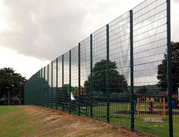 Modern mesh fences
