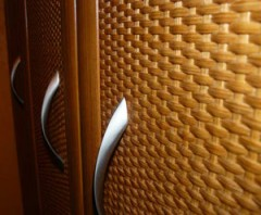 Panels of rattan leaf