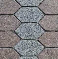 Paving slabs of granite