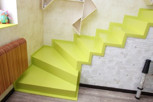 Stairs made of artificial stone