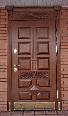 Уличные входные металлические двери.