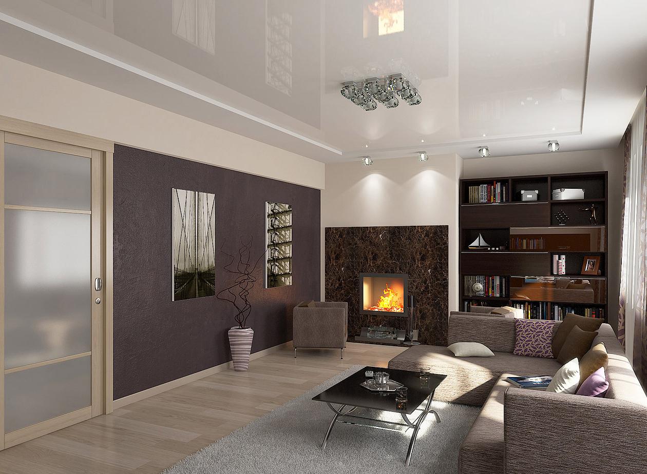 Потолки для гостиной дизайн