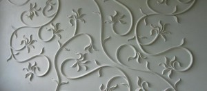 Stucco molding made of gypsum