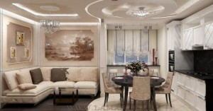 The interior design of luxury homes