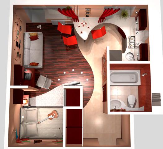 Дизайн 1 комнатных квартир в панельном доме