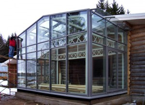 Transparent aluminum construction