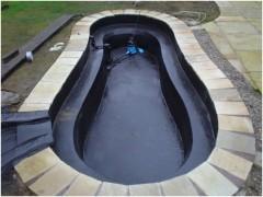 Waterproofing liquid rubber pool