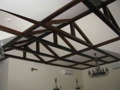 Wooden beams on the ceiling9