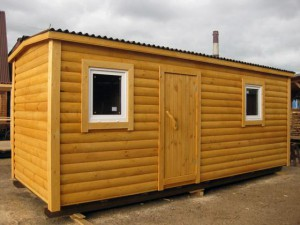 Wooden cabins for suburban area