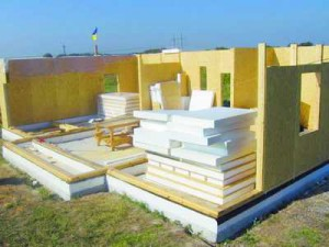 Wooden houses of sandwich panels