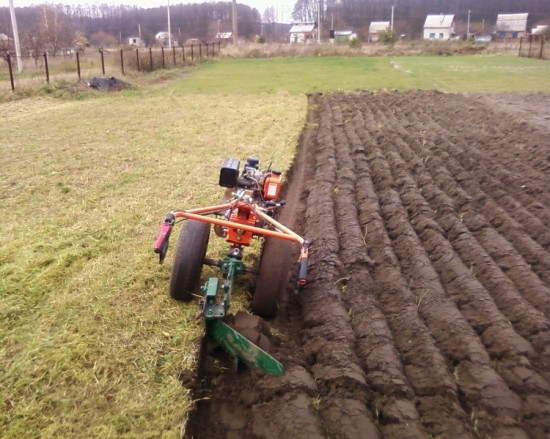 adjust the plow on the Tillers