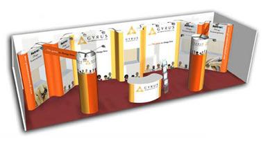 arrange a trade show booth