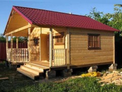 bath log home on a suburban site