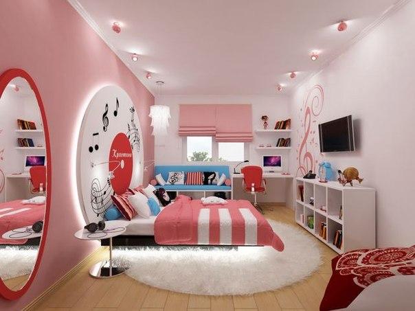 Дизайн спальня для девочки подростка