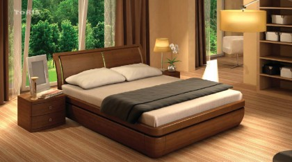 beds made of solid wood