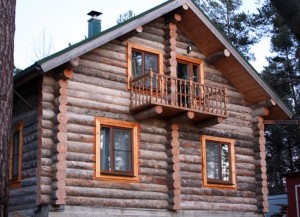 build a house from the Karelian pine
